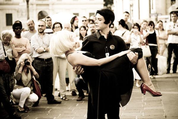danza urbana nel centro storico di vicenza