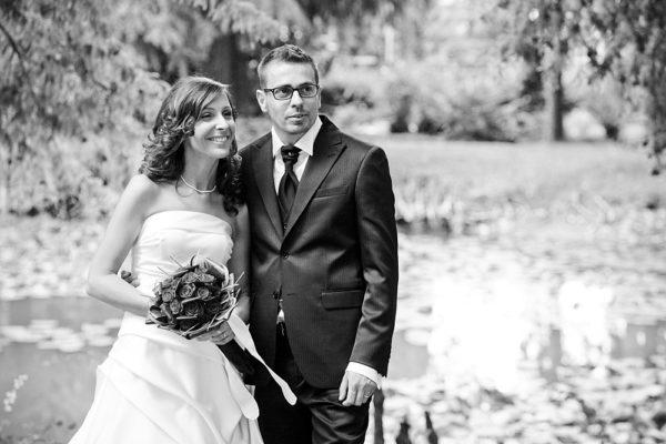 ritratto degli sposi di un matrimonio a vicenza