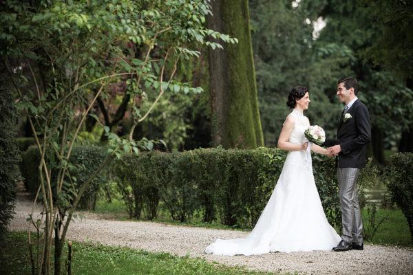 sposi in un parco a vicenza